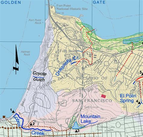 san francisco map points of interest lobos creek watershed