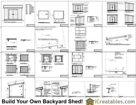 Shed Plans 10 X 12 by 10x12 Lean To Shed Plans Icreatables