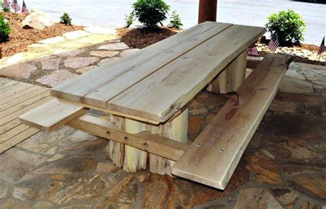 bench with table in middle garden bench with table in middle rustic log tables metal