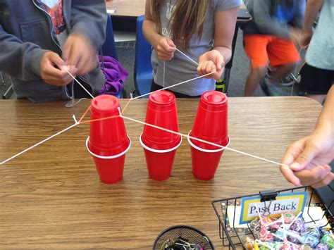 rubber sting projects each one teach one cup challenge stem