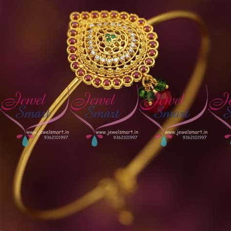 Rubies Bajuband ar6857 ruby emerald fancy traditional armlet string vanki collections