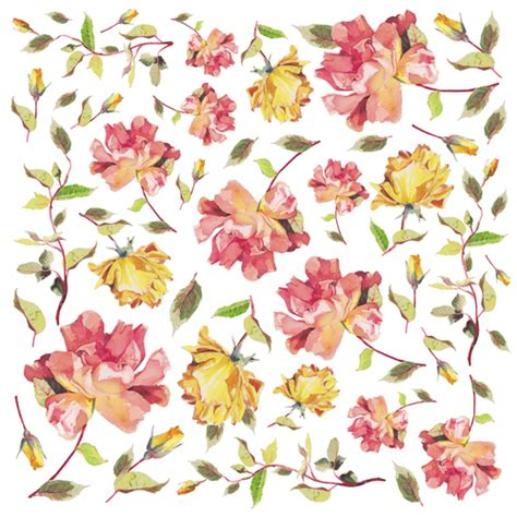 Floral Decoupage - flower paper for decoupage sonja servietten shop