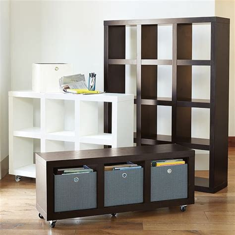 west elm shelving rolling storage modern display and wall shelves by