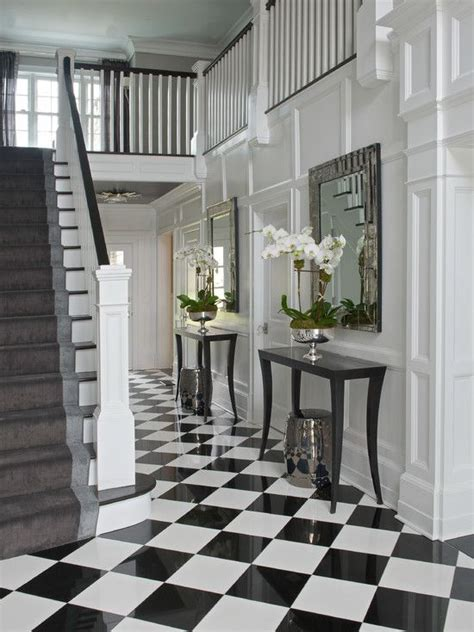 Entryway Table With Stools Underneath Chic Foyer With Silver Stools Tucked Black Console