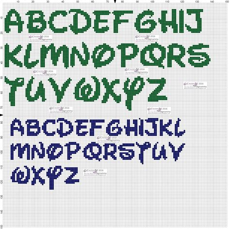 lettere disney punto croce amorevitacrocette alfabeti disney a punto croce