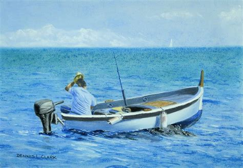 how to draw a fisherman in a boat in pastel online art - How To Draw A Fisherman Boat