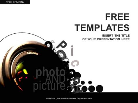 Photographer Design Templates free colorful powerpoint templates design