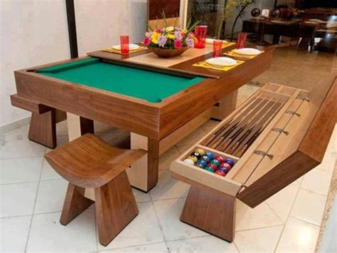 pool table dinner table diy ideas all in