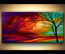 abstract landscape paintings landscape painting abstract landscape colorful sunset