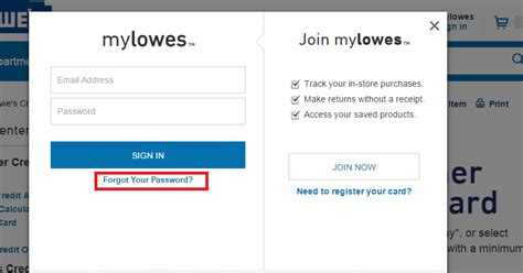 lowes credit card login make payment lowe s credit card login bill payment