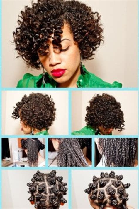 bantu knots on natural hair bantu knot out hair natural summer pinterest