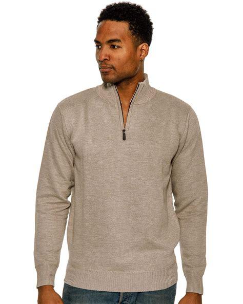 Sweater Rock true rock s 1 2 zip mock sweater ebay