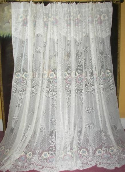 cottage lace curtains vintage country cottage chic net floral lace drapes curtains cottages