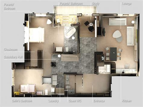 plan appartement 2 chambres 50 plans en 3d d appartements et maisons page 5 sur 6