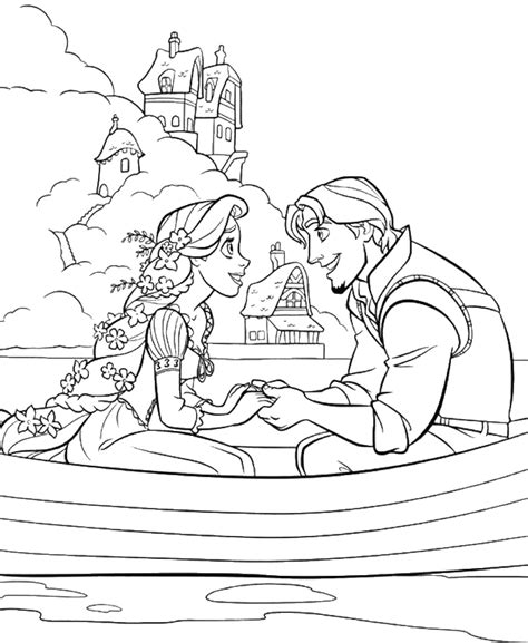 princess coloring pages tangled princess rapunzel dating with flynn rider coloring pages