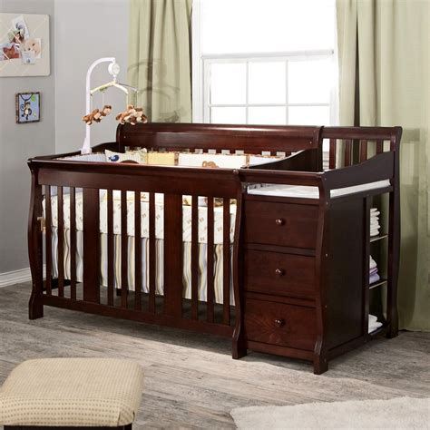 Baby Cribs 4 In 1 With Changing Table by Storkcraft Tuscany 4 In 1 Convertible Crib And Changer