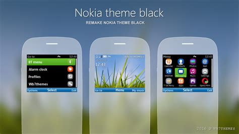 black theme for nokia c3 00 and x2 01 wb7themes nokia theme black remake s40 320x240 asha 200 themes