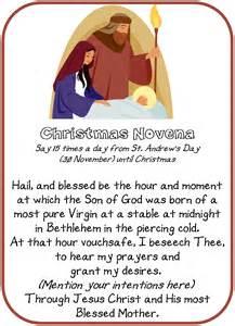 Catholic st andrews christmas novena another free printable