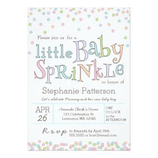 baby sprinkle invitations announcements zazzle
