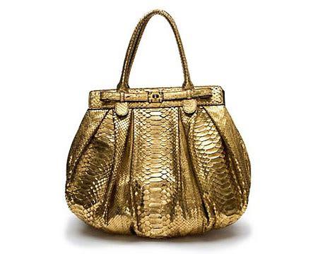 Mauro Zagliani Metallic Python Handbag by Mauro Orietti Carella Released Botox Injected Handbags