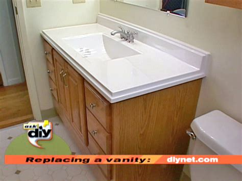 how to replace a bathroom vanity how to diy network