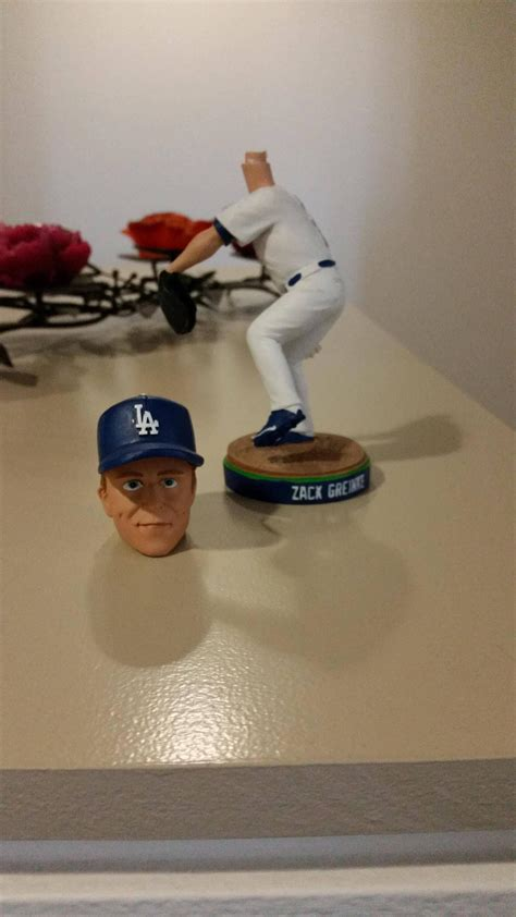 greinke bobblehead broke     terrifying dodgers