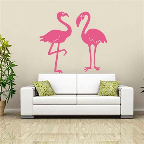 flamingo home decor flamingo wall sticker vinyl adhesive home decor living room waterproof kitchen diy wall decal