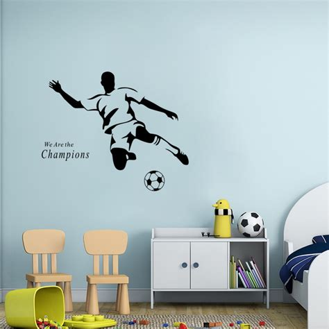 What Is Wall Mural soccer wall sticker football player decal sports