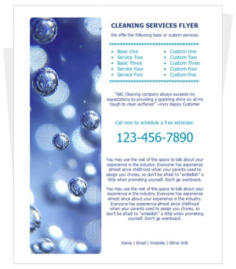 cleaning services flyer by cleaningflyer com