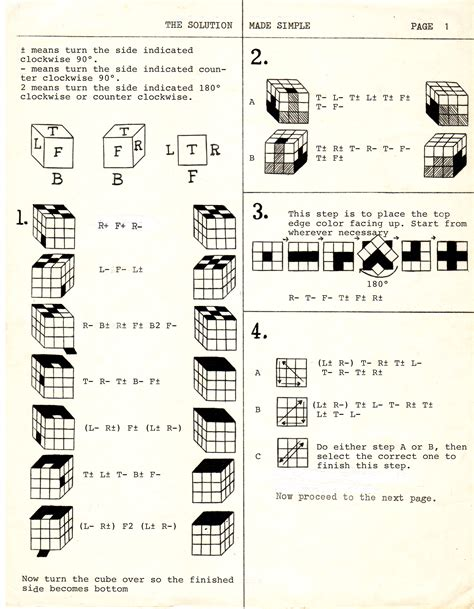 printable instructions on how to solve a rubik s cube rubik s cube solution