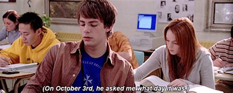 October 3rd Meme - my gif 1k mean girls lindsay lohan cady heron 500 100