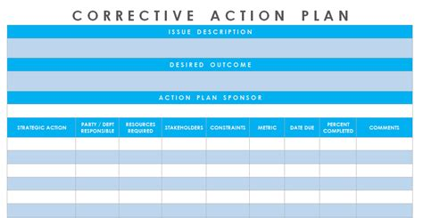Get Corrective Action Plan Template Excel Microsoft Excel Templates Excel Project Management Project Management Corrective Plan Template