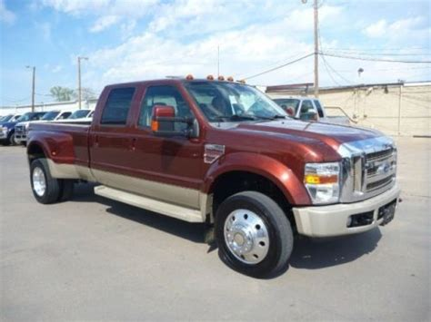 sell used 2008 ford f 450 crew cab king ranch diesel