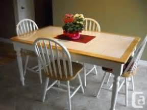 White Tile Kitchen Table Beautiful White Tile Top Kitchen Table W 4 Chairs Lansdowne Bloor For Sale In