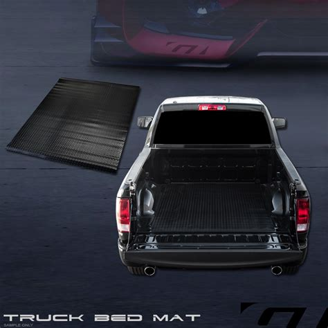truck bed rug for 2009 2017 dodge ram rambox 6 4 black rubber diamond