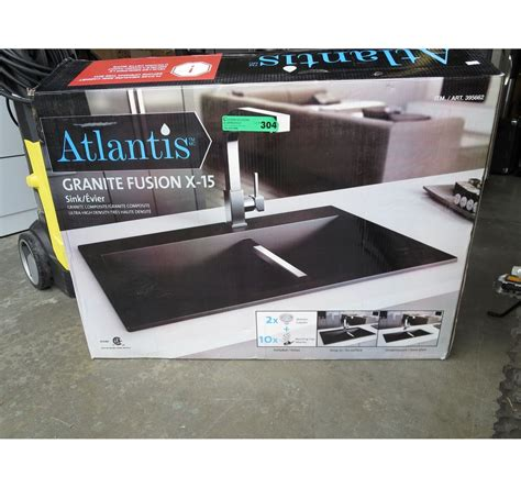 how did atlantis sink atlantis granite fusion drop in sink