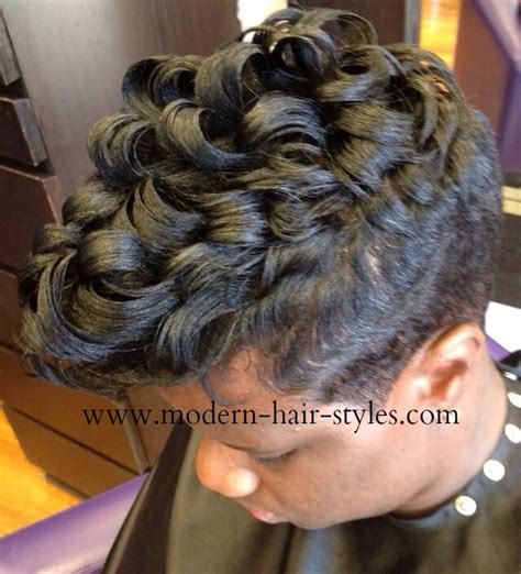27 peice with pin curls short pixie that can be curled and styles with marcels
