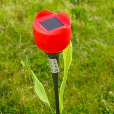 tulip solar lights solar powered tulip garden lights