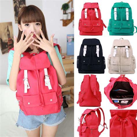 Tas Canvas Fashion Koreb korean style fashion backpack cus student handbag travel bag student bags