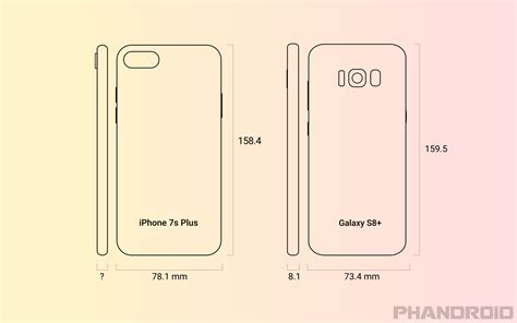 iphone   galaxy  size comparison rumor
