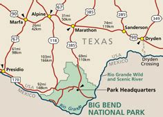 big bend texas map directions transportation big bend national park u s national park service
