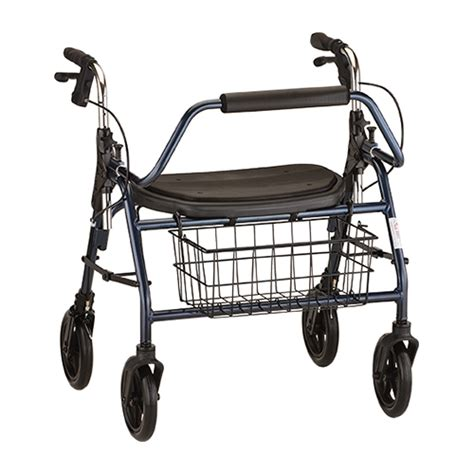 4 wheel walker with seat and basket mighty mack 4 wheel heavy duty rollator with