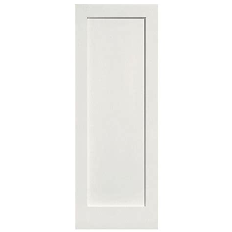 Single Panel Interior Doors Masonite 28 In X 80 In Mdf Series 1 Panel Right Handed Solid Smooth Primed Composite