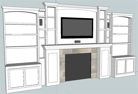 home theater update built in cabinets 3d model all