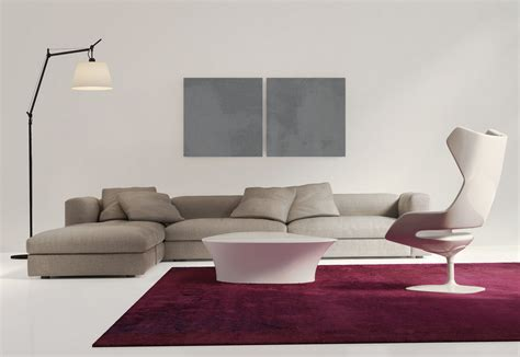 minimal living room modern minimalist living room with purple couch 3d house