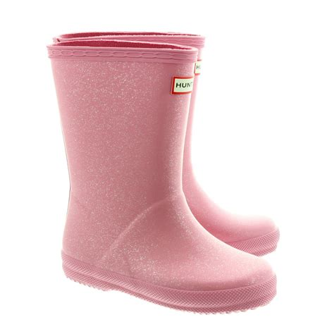 Boots Pink glitter wellingtons in pink in pink