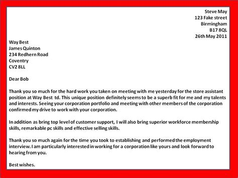 sample thank you letter business opportunity