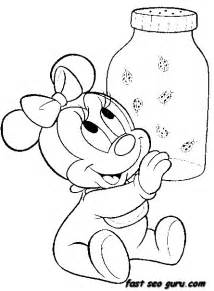 baby minnie mouse coloring pages free disney characters coloring pages