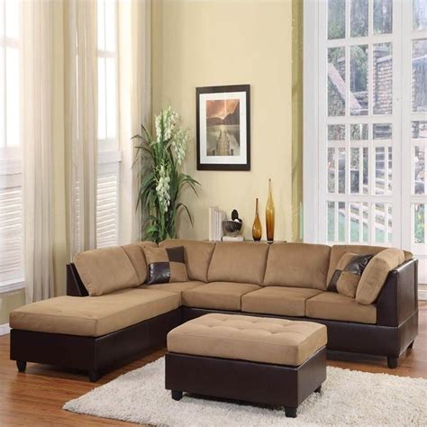 dark brown microfiber sectional homelegance comfort living vinyl microfiber sectional sofa