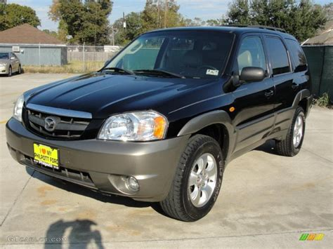 mystic black 2003 mazda tribute es v6 exterior photo